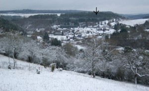 foto Ahrdorf en omgeving in de winter