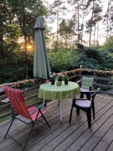 2 - het terras vlak voor zonsondergang